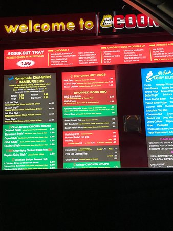Cook Out Fayetteville 6903 Cliffdale Rd Menu Prices