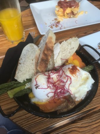 Alsur Café (Llúria): Great breakfast! Loved my sweet potato eggs Benedict