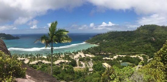 Baie Lazare, Seychelles: view from the top on the hotel area