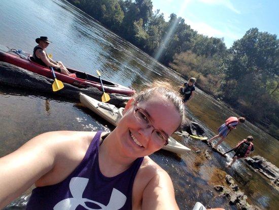 Lillington, NC: Enjoying a break at the rock garden