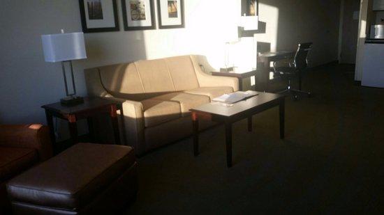 Comfort Suites Maingate East: Living area, Deluxe king room