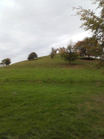 View from foot of Burrow Mump