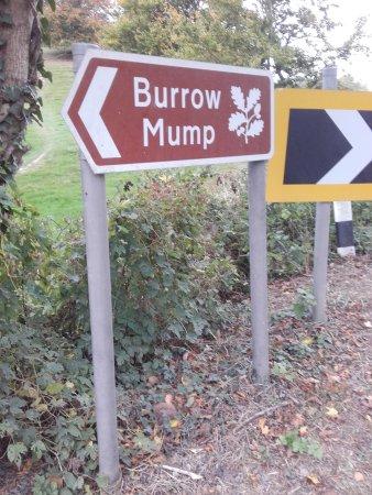 Burrow Mump Sign at foot.