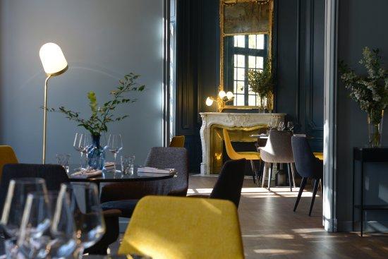 Maison Bouquet: Salon bleu au 1er étage