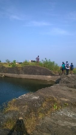 Visapur Fort: The water ponds at the top.