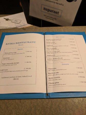 dinner menu need to make reservation picture of fosshotel nupar