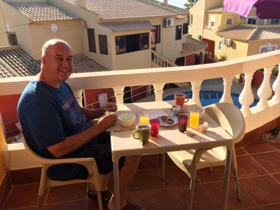 Vila Graciosa Guesthouse : Breakfast balcony