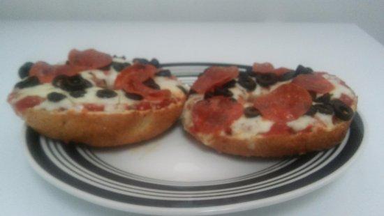 Bunnell, FL: Pepperoni & Black Olive Pizza Bagel