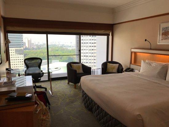 Pan Pacific Singapore: Blick aus der 19. Etage