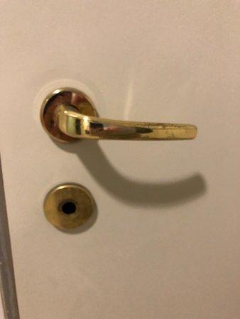 Centrál Kávéház és Étterem: Toilet doors without locks, damaged stairs, damaged ceiling. Serious?