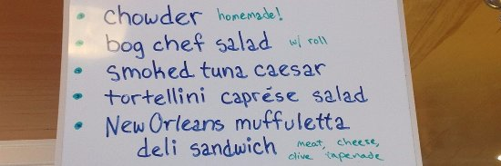 Ocean Park, WA: Our whiteboard shows our daily lunch specials.