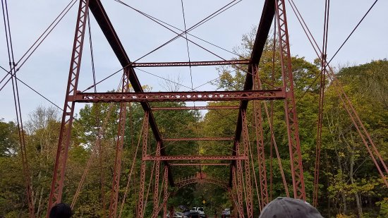 New Milford, CT: old iron bridge