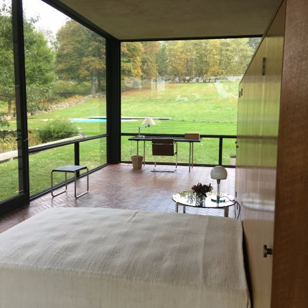 The Philip Johnson Glass House: View from Sleeping Area