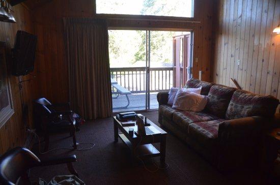 Bass Lake, كاليفورنيا: Wohnbereich mit Sofabett