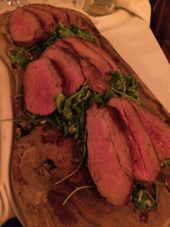 The Marlborough: Beautiful steak that melts in your mouth !!!