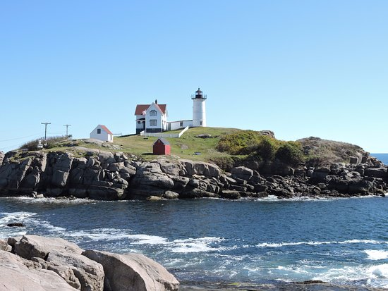York, ME: From the parking lot at the Cape Neddick Nubble Lighthouse