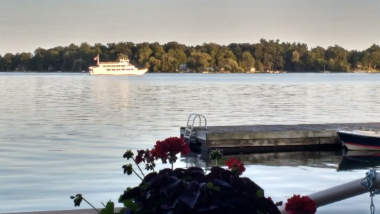 Thousand Islands Playhouse: Scene from back deck/patio of the theatre.