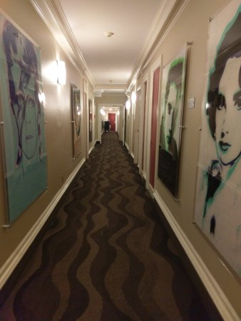 Artmore Hotel: One of the hallways with their fun art