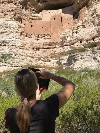 Montezuma Castle National Monument: This is as close as you can get to the castle.