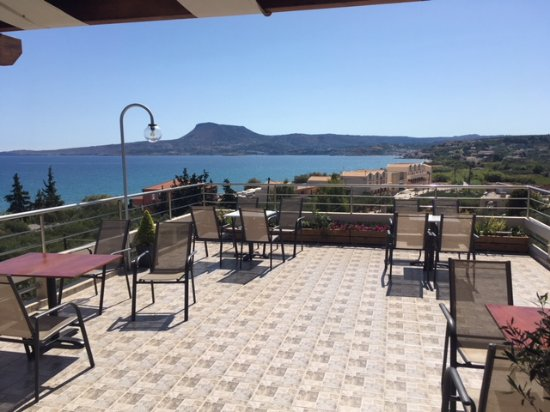 Kalami, Grèce : Spectacular views from the top terrace
