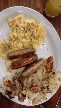 Menlo Park, CA: Eggs, sausage and hash browns