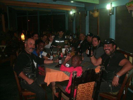 Punta Gorda, Belice: Surprise Dinner Guests. The Legionarios Bike Club from Mexico - Fine Gentlemen*