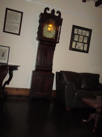 Piercebridge, UK: The Grandfather Clock that was too tall for the shelf........