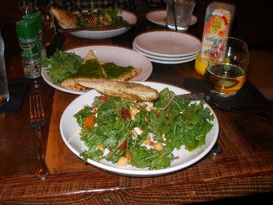 Ferndale, MI: Salad, Pesto Bread, Chardonnay