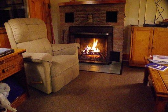 McGregor Mountain Lodge: Fireplace