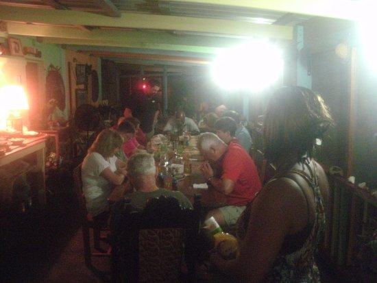 Punta Gorda, Belice: Mangrove Inn - Where eating is a religious experience*