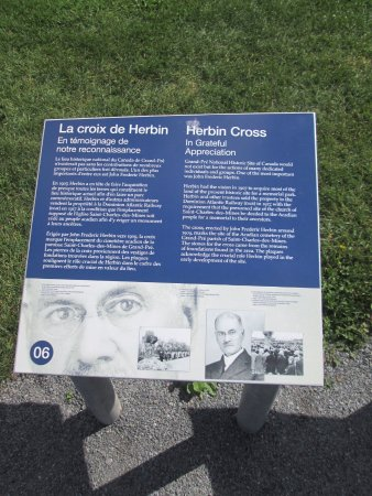 Grand Pre, Kanada: Historical markers are found throughout the park