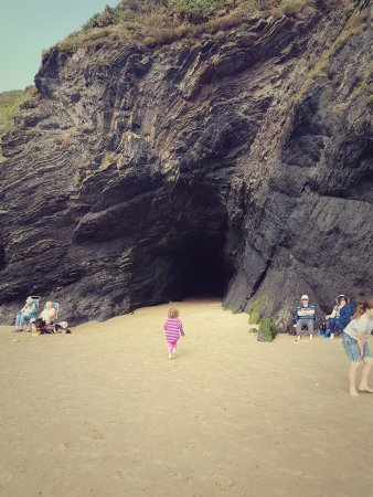Llangrannog, UK: The cave, from the beach