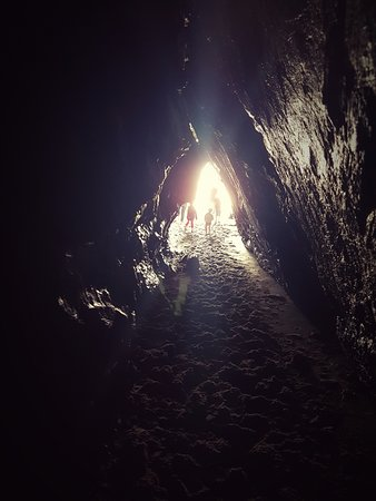 On a Bear Hunt, into the cave at Llangrannog...