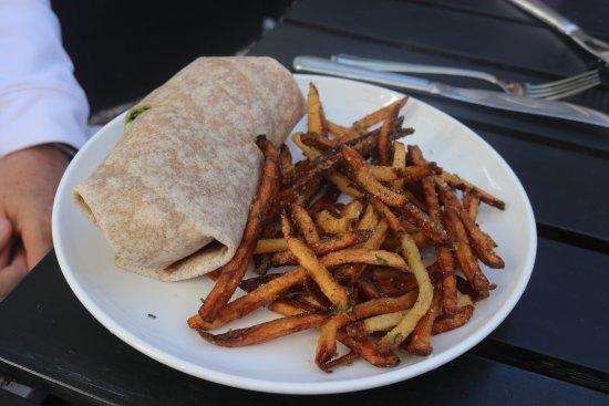 Crisp Flatbread Inc.: Wrap with crispy fries.