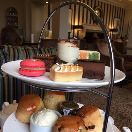 Yummy cakes at Sopwell House - afternoon tea.