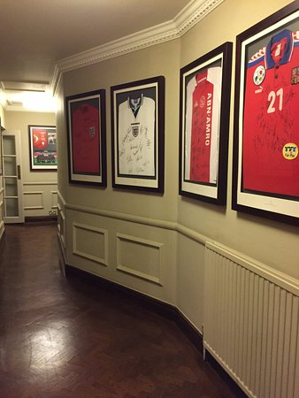 Sopwell House: A collection of signed football shirts from teams who have stayed at the hotel.