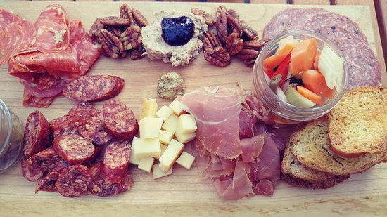 Prince George, Canada: One amazing charcuterie board - very generous serving