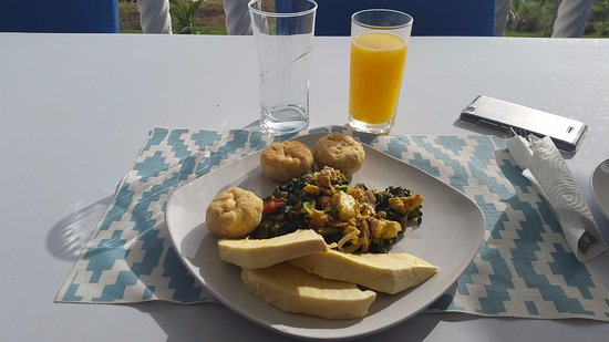 Portland Parish, Jamaica: What a great authentic Jamaican Breakfast!