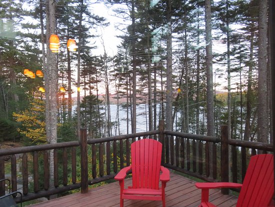 Greenville, ME: View of Wilson Pond from Loon Lodge