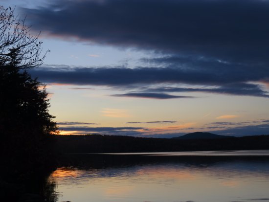 Greenville, ME: Sunset from in front of Loon Lodge