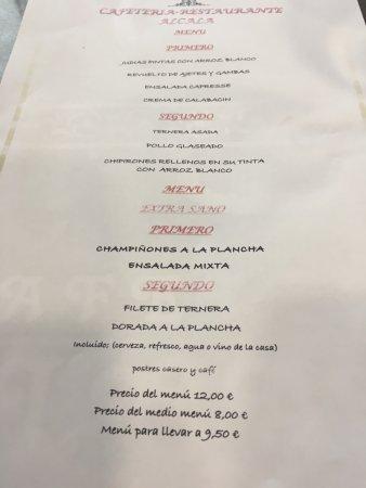 Alcobendas, Spanje: Menú