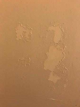 Hôtel Mercure Bordeaux : Paint peeling off in the bathroom