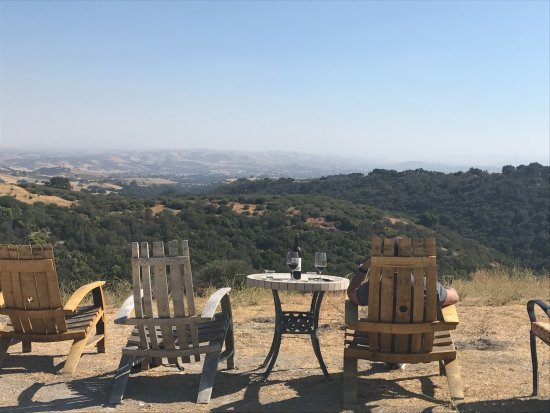 Calcareous Vineyard: Enjoying a bottle of red and the views