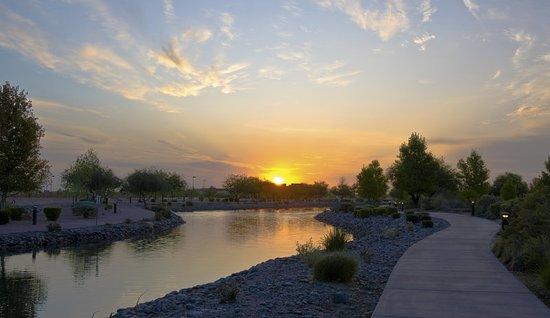 Chandler, Arizona: Sunrise on River Walk
