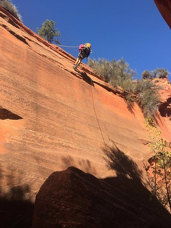 Springdale, UT: Another great rappel!