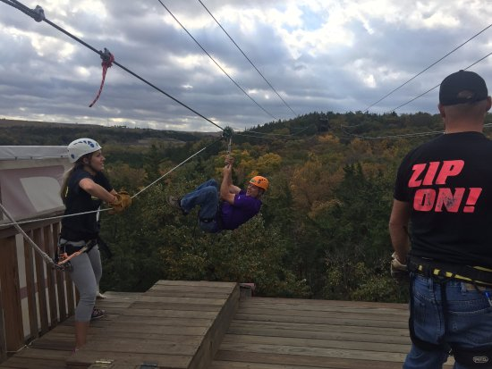 Wildwood Outdoor Adventure Park: My husband Doug hammed it up!