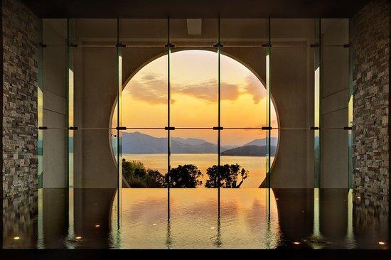 Chun'an County, Kina: Sunset from Lobby