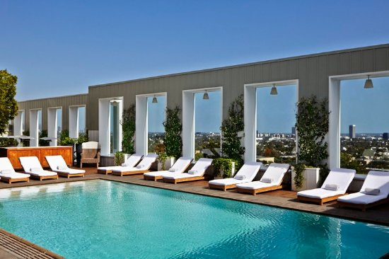 Mondrian los angeles hotel updated 2018 prices reviews - Outdoor swimming pools north west ...