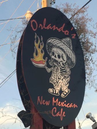 El Prado, NM: Orlando's Highway Sign - Taos, New Mexico