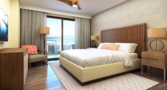 Hilton Hawaiian Village Waikiki Beach Resort: Penthouse Suite Bedroom
